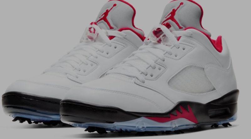 Tenisky Air Jordan 5 Golf Fire Red