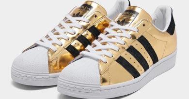 Tenisky adidas Superstar ve zlaté barvě