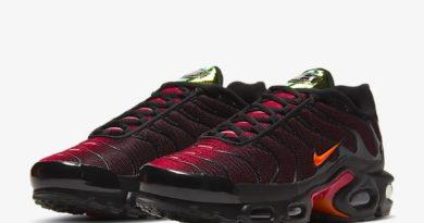 Tenisky Nike Air Max Plus v červeno černé barevné kombinaci