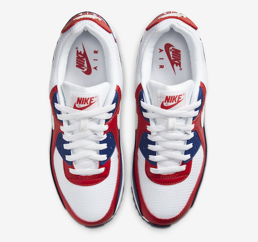 Tenisky Nike Air Max 90 USA White Red Navy
