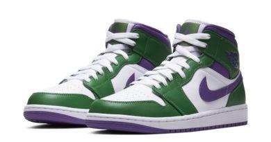 Tenisky Air Jordan 1 Mid Hulk Green Purple