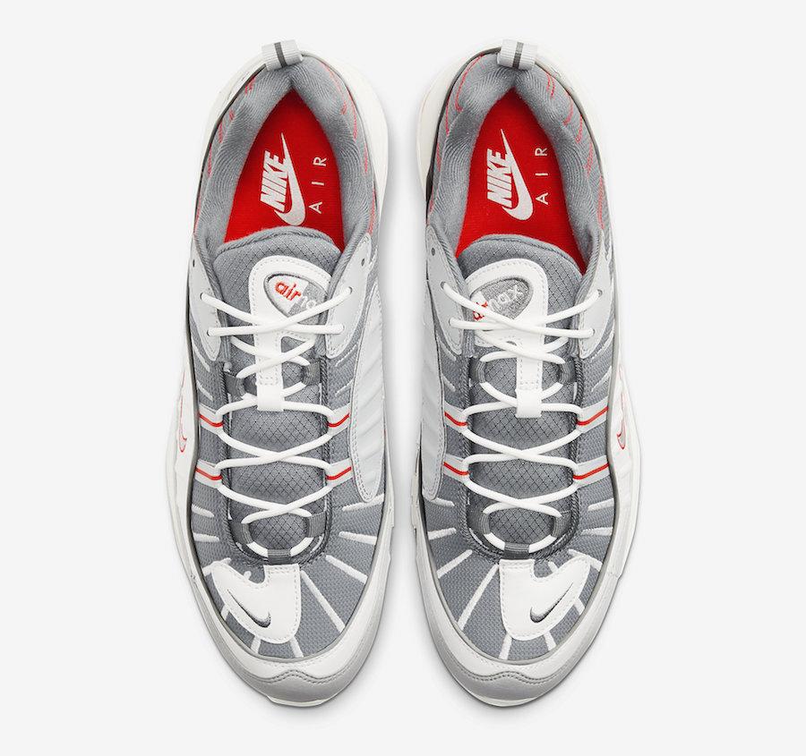 Tenisky Nike Air Max 98 Grey Sail Habanero Red