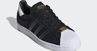 Tenisky adidas Superstar Black White Gold EH1543