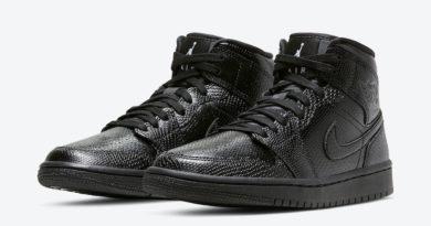 Tenisky Air Jordan 1 Mid Black Snakeskin