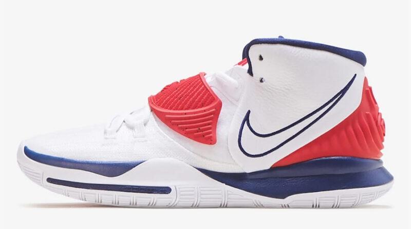 Tenisky Nike Kyrie 6 White Navy Red BQ4630-102