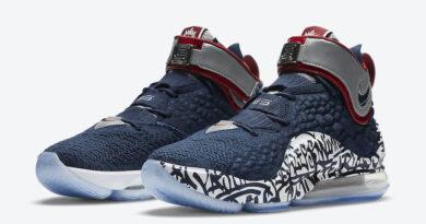 Tenisky Nike LeBron 17 Graffiti Cold Blue CT6047-400