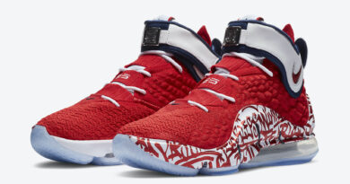 Tenisky Nike LeBron 17 Graffiti Fire Red CT6047-600