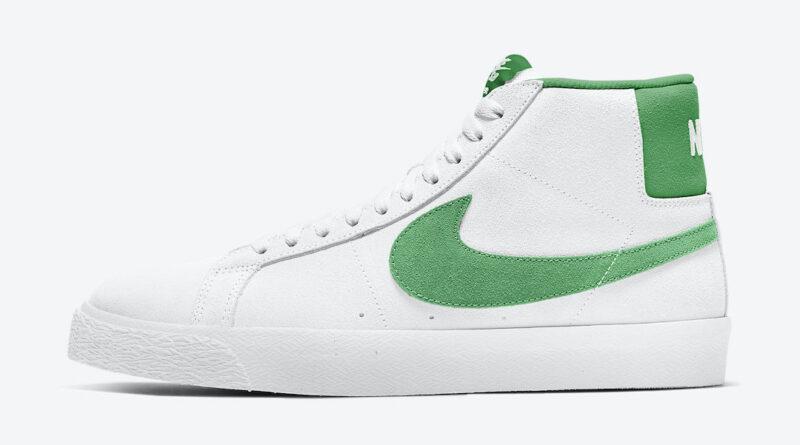 Tenisky Nike SB Blazer Mid White Green 864349-106