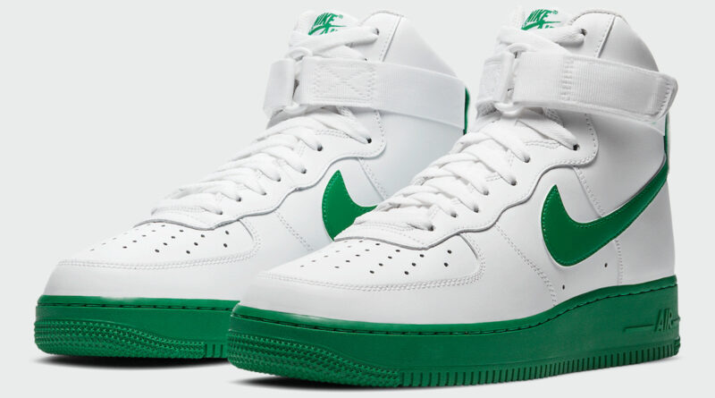 Tenisky Nike Air Force 1 High White Green CK7794-100