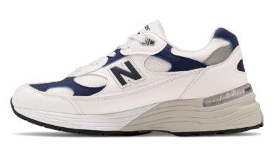 Tenisky New Balance 992 White Navy Blue
