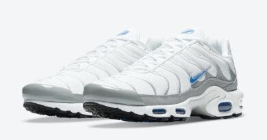 Pánské bílé tenisky Nike Air Max Plus Black/White/Grey-Laser Blue DC0956-100 nízké sportovní boty