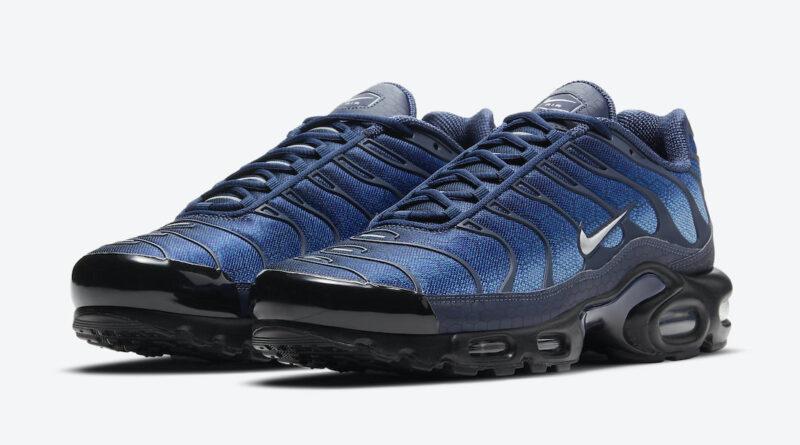 Pánské modré tenisky Nike Air Max Plus Blue Hex Black Silver Blue DC1935-400 nízké sportovní boty a obuv Nike