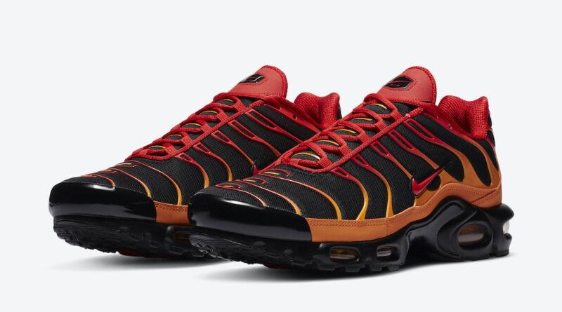 Pánské černé a červené tenisky Nike Air Max Plus Lava Black Red Magma Orange DA1514-001 nízké sportovní boty a obuv Nike