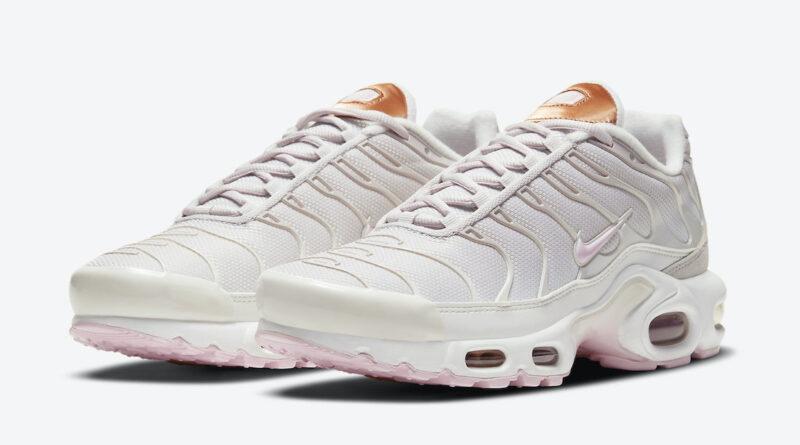 Pánské bílé tenisky Nike Air Max Plus White Soft Pink Metallic Copper DD6612-001 nízké sportovní boty a obuv Nike