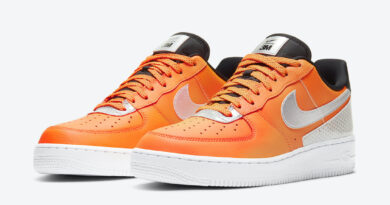 Pánské oranžové tenisky 3M x Nike Air Force 1 Total Orange/Metallic Silver-Black CT2299-800 nízké kožené boty a obuv Nike AF1