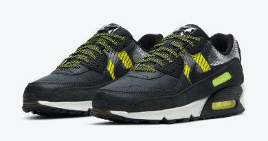 Pánské černé tenisky 3M x Nike Air Max 90 Anthracite/Anthracite-Volt-Black CZ2975-002 nízké sportovní boty a obuv Nike