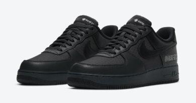 Pánské černé tenisky Nike Air Force 1 Gore-Tex Anthracite/Black-Barely Grey CT2858-001 nízké kožené boty a obuv Nike AF1