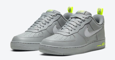 Pánské šedé tenisky Nike Air Force 1 Low Grey Volt DC1429-001 nízké sportovní kožené boty a obuv Nike AF1