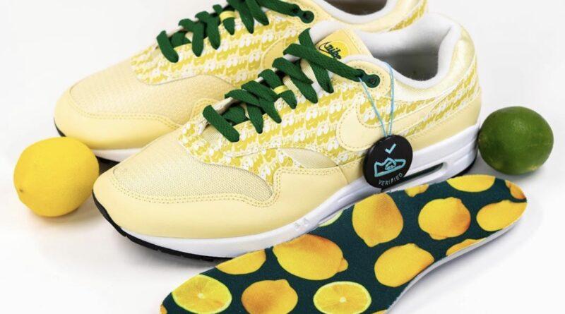 Pánské žluté tenisky Nike Air Max 1 Lemonade/Lemonade-Pine Green-True White CJ0609-700 nízké sportovní boty a obuv Nike