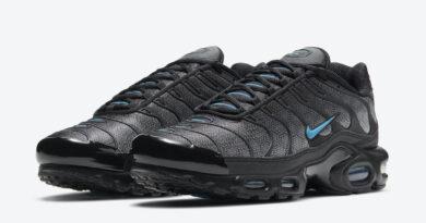 Pánské černé tenisky Nike Air Max Plus Black Hex Black Grey Laser Blue DC1935-001 nízké sportovní boty a obuv Nike