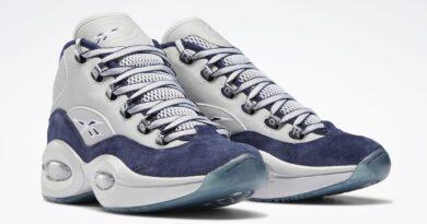 Pánské bílé tenisky Reebok Question Mid Dallas Cowboys Vector Navy/Silver Metallic-White FZ3945 kotníkové basketbalové boty a obuv