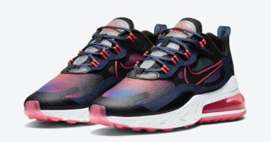 Dámské barevné tenisky Nike Air Max 270 React SE Midnight Navy/Flash Crimson-Hyper Pink-Black CK6929-400 sportovní boty a obuv Nike