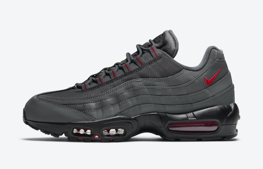 Pánské šedé tenisky Nike Air Max 95 Black Grey University Red DC4115-002 nízké sportovní boty a obuv Nike