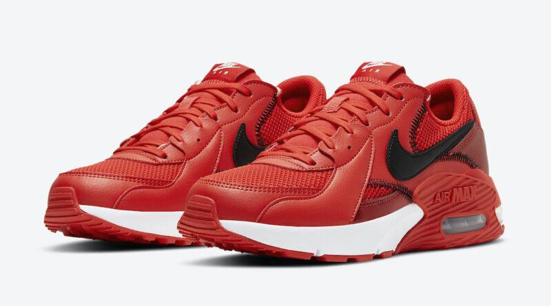 Pánské červené tenisky Nike Air Max Excee White Black University Red DC2341-600 sportovní nízké boty a obuv Nike