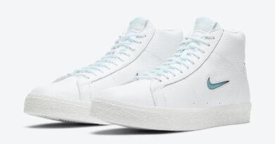 Pánské bílé tenisky Nike SB Zoom Blazer Mid Premium White/Glacier Ice-White-Summit White CU5283-100 kožené vysoké boty a obuv Nike