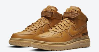 Pánské hnědé tenisky Nike Air Force 1 Gore-Tex Boot Wheat Flax/Flax-Wheat-Gum Light Brown CT2815-200 vysoké kožené boty a obuv Nike AF1