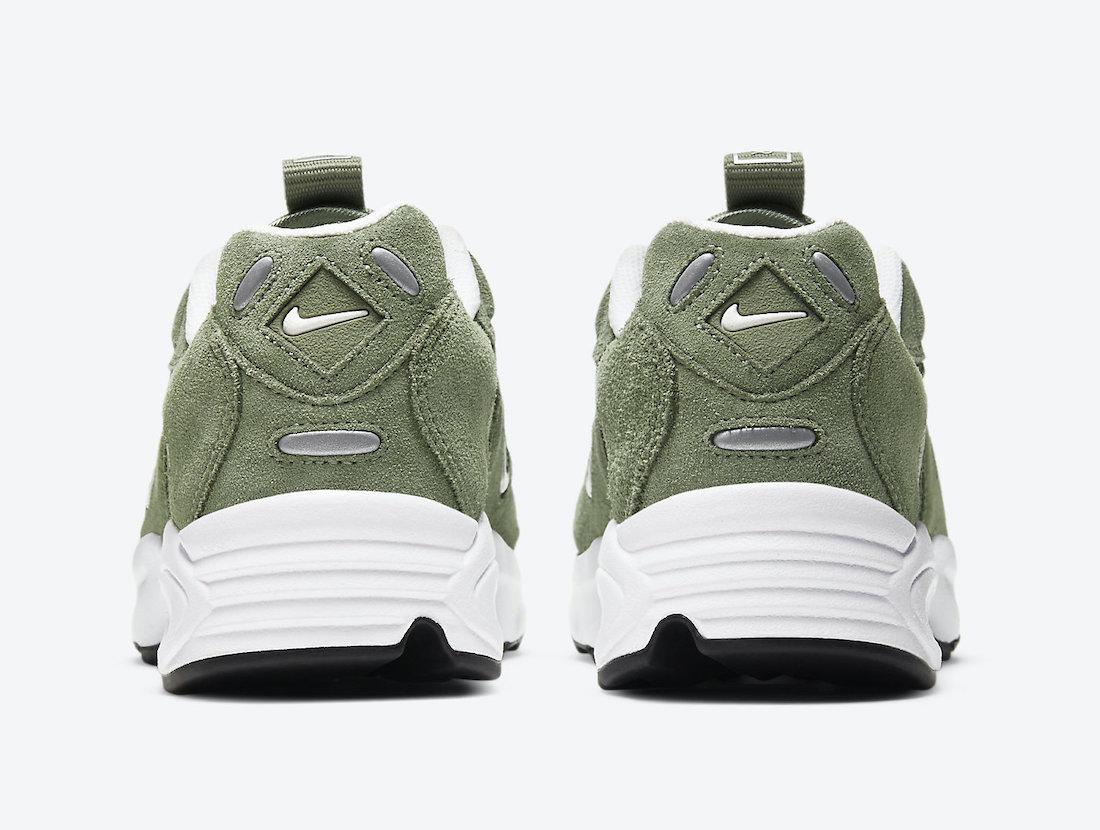 Pánské zelené tenisky a boty Nike Air Max Triax LE White Black Green Suede CT0171-300 sportovní nízké botasky a obuv Nike