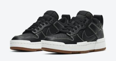 Dámské černé tenisky a boty Nike Dunk Low Disrupt Black/White-Gum Medium Brown CK6654-002 nízké botasky a obuv Nike