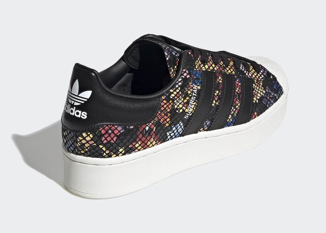 Pánské barevné tenisky a boty adidas Superstar Bold Core Black/Off White-Red FW3701 kožené nízké botasky a obuv adidas