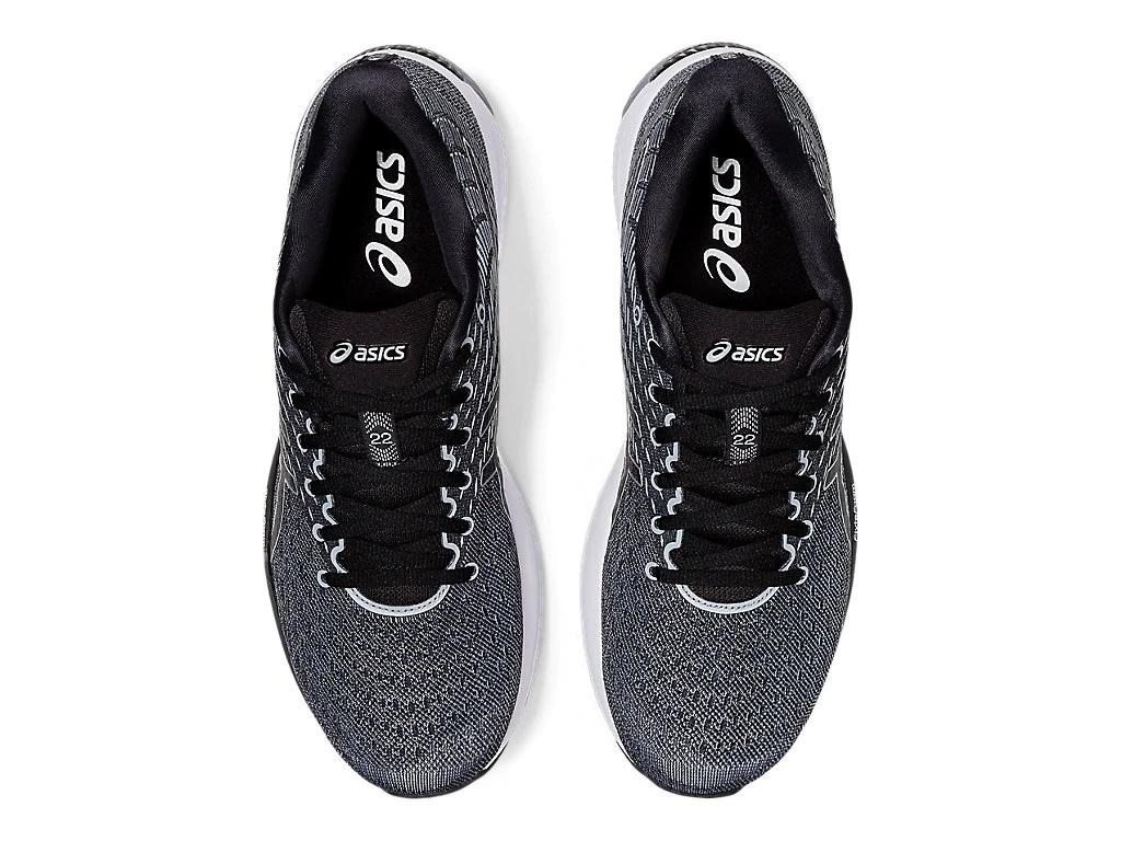 Pánské černé bílé tenisky a boty Asics Gel-Cumulus 22 (2E) Sheet Rock/Black 1011A860-021 nízké běžecké botasky a obuv Asics