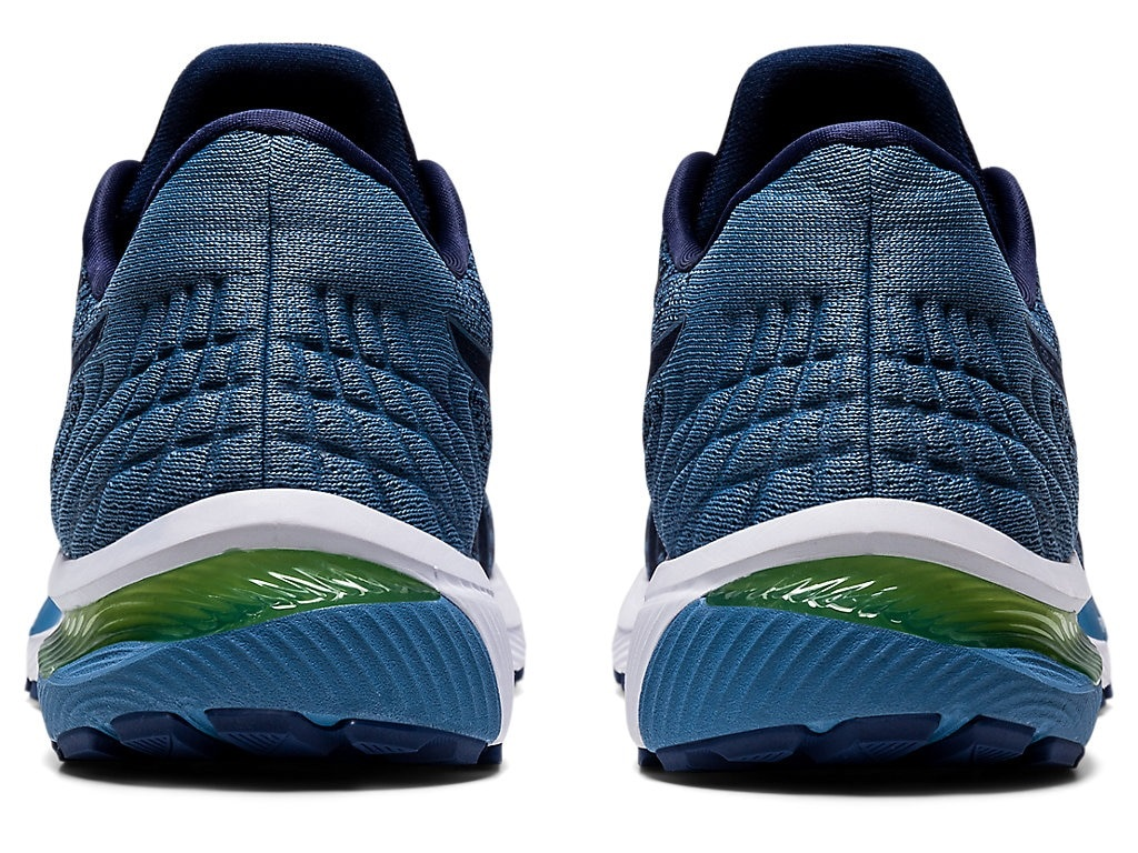 Pánské modré tenisky a boty Asics Gel-Cumulus 22 Knit Peacoat/Grey Floss 1011A861-400 nízké běžecké botasky a obuv Asics