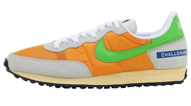 Pánské oranžové a šedé tenisky Nike Challenger OG Kumquat/Green Nebula DC5214-886 nízké běžecké boty a obuv Nike