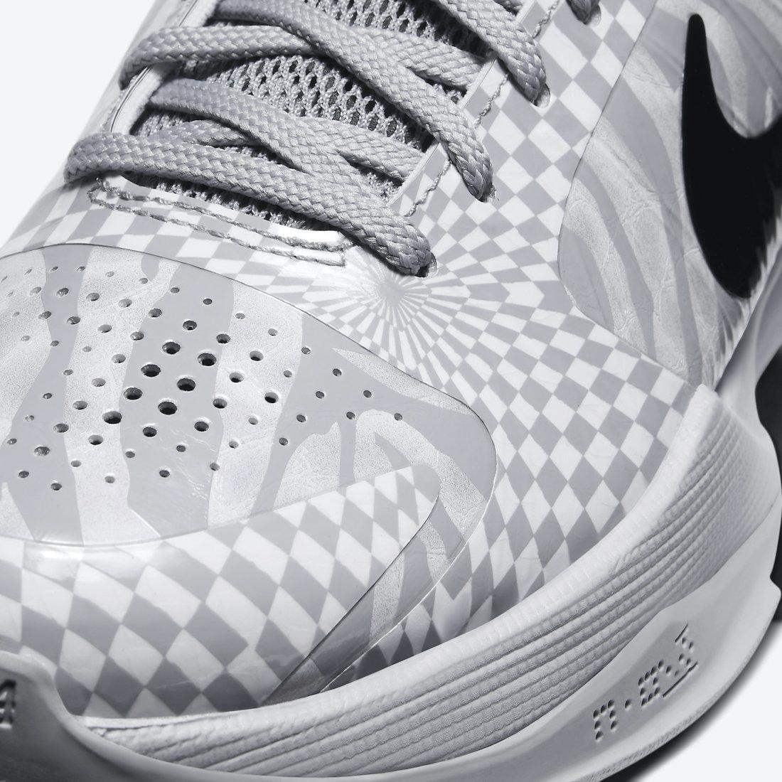 Pánské bílé šedé tenisky a boty Nike Kobe 5 Protro Zebra PE Wolf Grey/White-Black CD4991-003 nízké botasky a obuv Nike