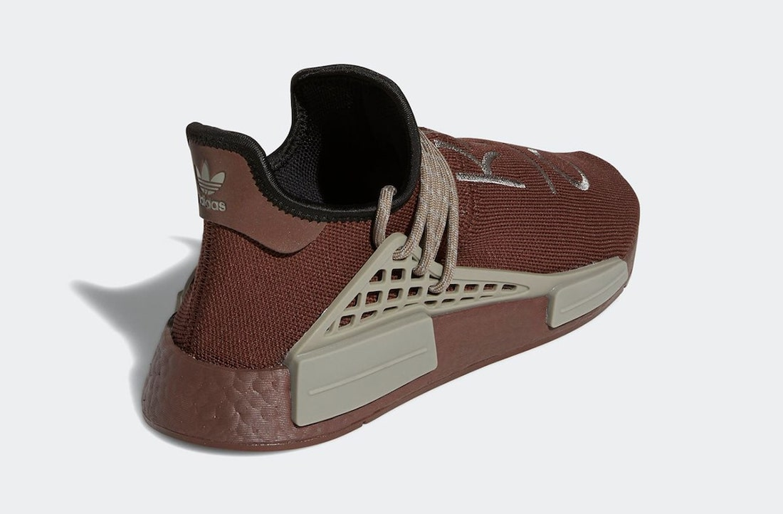Pánské hnědé tenisky a boty Pharrell x adidas NMD Hu Chocolate/Chocolate GY0090 nízké sportovní botasky a obuv adidas