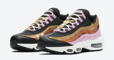 Dámské černé tenisky Nike Air Max 95 WMNS Black/Metallic Copper/Metallic Gold /Light Pink/Summit White CU8080-800 nízké boty a obuv