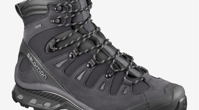 Pánské outdoorové a trekové boty Salomon Quest 4D 3 GTX Phantom/Black/Quiet Shade 402455 turistická kotníková obuv Salomon