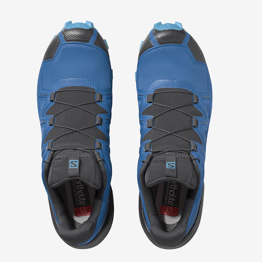 Pánské modré černé tenisky a boty Salomon Speedcross 5 Indigo Bunting/Black/Ethereal Blue 411165 nízké botasky a obuv Salomon