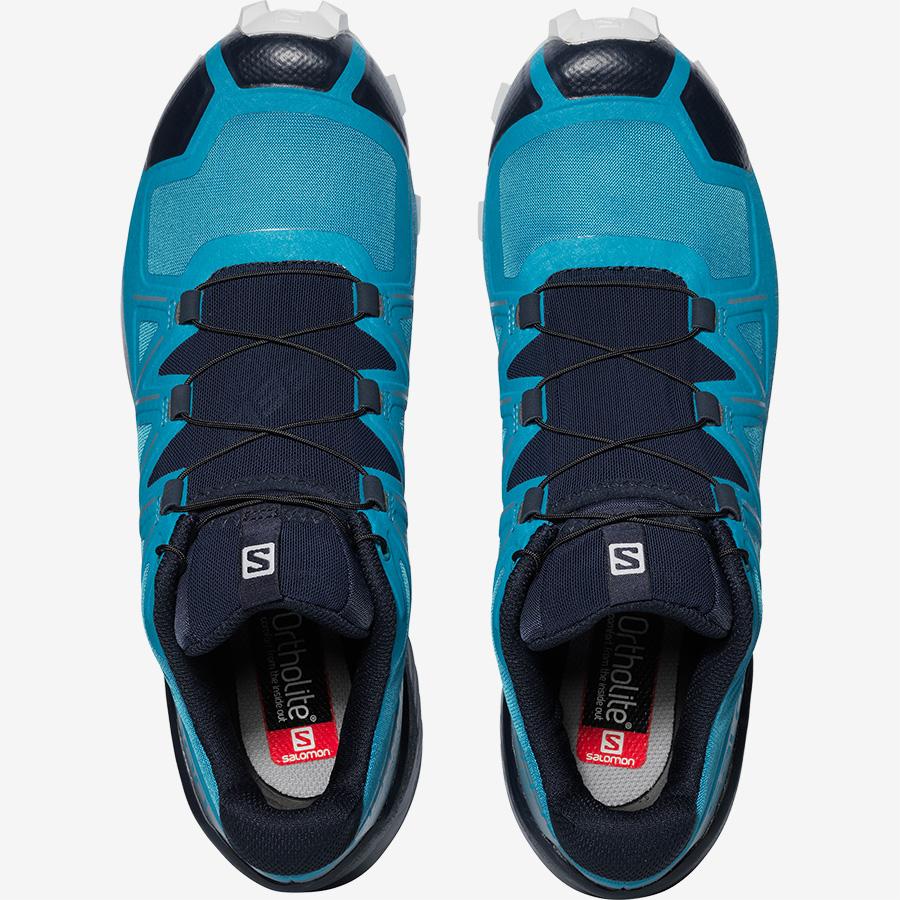 Pánské modré tenisky a boty Salomon Speedcross 5 Fjord Blue/Navy Blazer/Illusion Blue 409258 nízké běžecké botasky a obuv Salomon