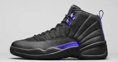 Pánské černé tenisky Air Jordan 12 Retro Black/Black-Dark Concord CT8013-005 semišové a vysoké kotníkové boty a obuv Jordan
