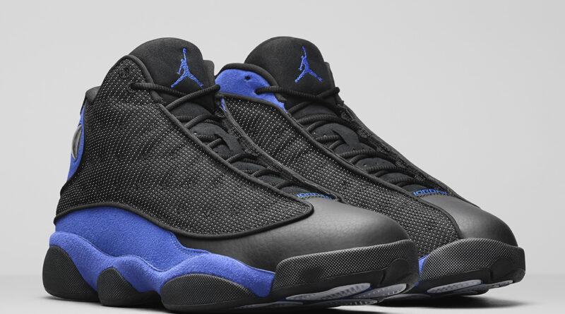 Pánské černé modré tenisky Air Jordan 13 Retro Black/Hyper Royal-Black-White 414571-040 vysoké kotníkové boty a obuv Jordan