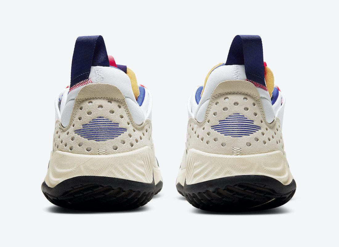Pánské bílé krémové tenisky a boty Jordan Delta White/Hyper Royal-Coconut Milk DC9202-141 nízké sportovní botasky a obuv Jordan