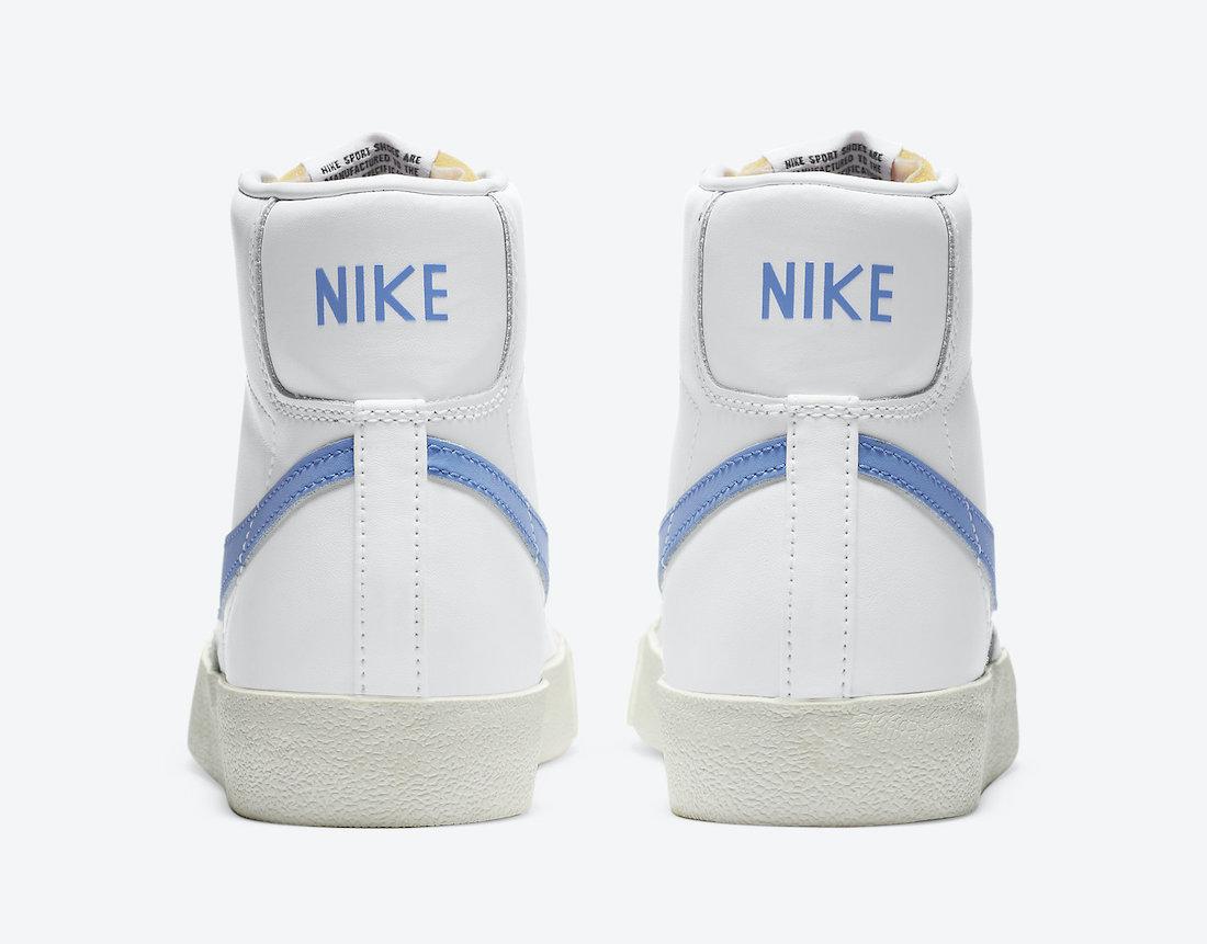 Pánské bílé tenisky Nike Blazer Mid 77 White/Royal Pulse-Hyper Crimson-Black CZ1055-111 kožené a vysoké kotníkové boty a obuv Nike