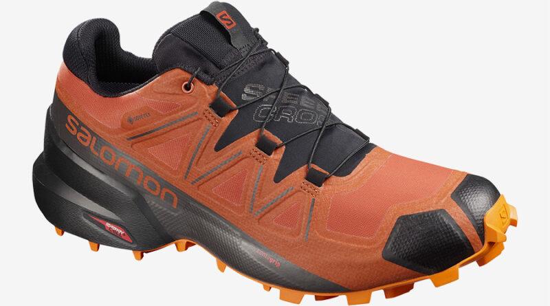 Pánské oranžové tenisky a boty Salomon Speedcross 5 GTX GORE-TEX Burnt Brick/Black/Exuberance 409573 běžecké botasky a obuv Salomon