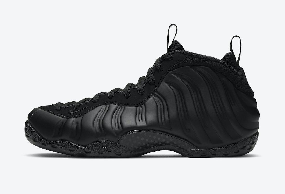 Pánské černé tenisky a boty Nike Air Foamposite One Black/Wolf Grey-Anthracite-Black 314996-001 kotníkové sportovní botasky a obuv
