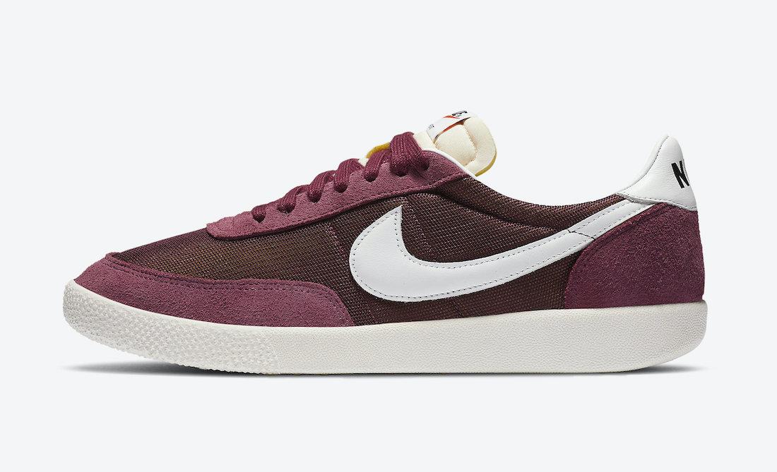 Pánské vínové tenisky a boty Nike Killshot OG Dark Beetroot/White-Villain Red-White DC1982-600 sportovní nízké botasky a obuv Nike
