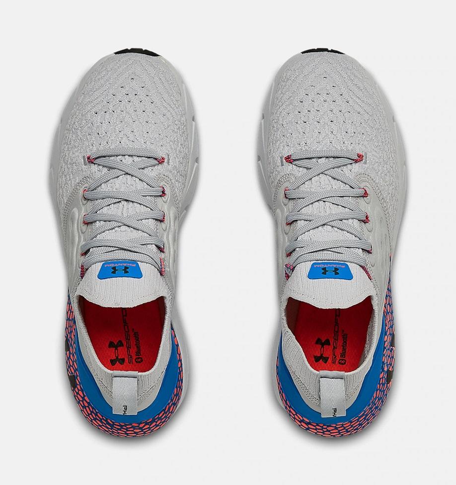 Dámské šedé tenisky a boty Under Armour Hovr Phantom 2 Mod Gray/Photon Blue/Black 3023021-102 nízké běžecké botasky a obuv UA
